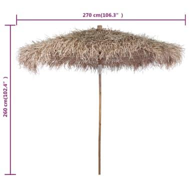 "vidaXL Bamboo Parasol 106.3"" with Banana Leaf Roof[4/4]"