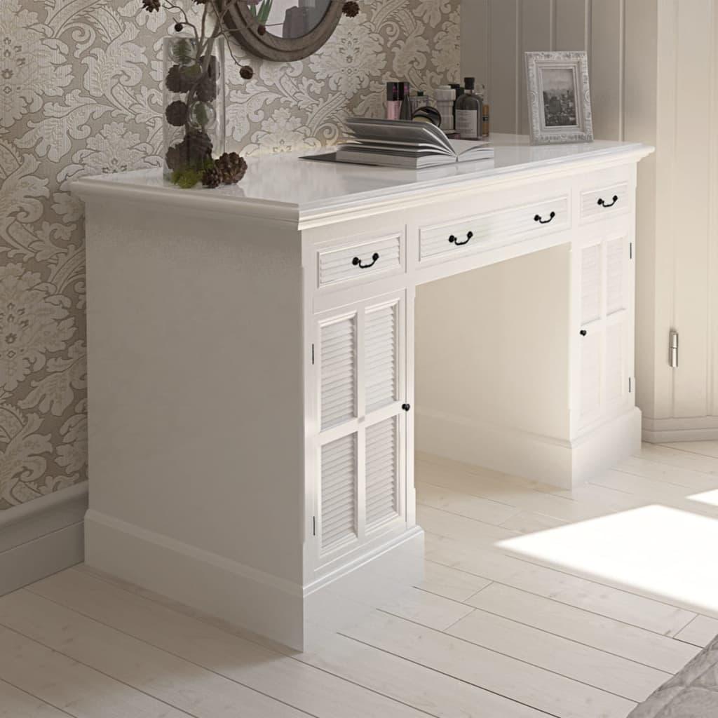 Birou două corpuri cu dulapuri și sertare, alb poza 2021 vidaXL