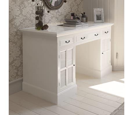 wei er schreibtisch mit schr nken und schubf chern g nstig. Black Bedroom Furniture Sets. Home Design Ideas