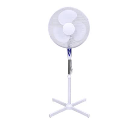 Ventilatore da terra oscillante regolabile 60 w bianco for Ventilatore da terra