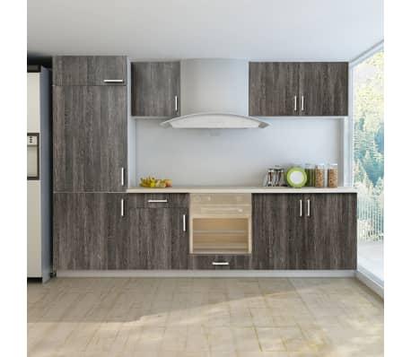 vidaxl k chenzeile f r einbauk hlschrank 7 tlg wenge look g nstig kaufen. Black Bedroom Furniture Sets. Home Design Ideas