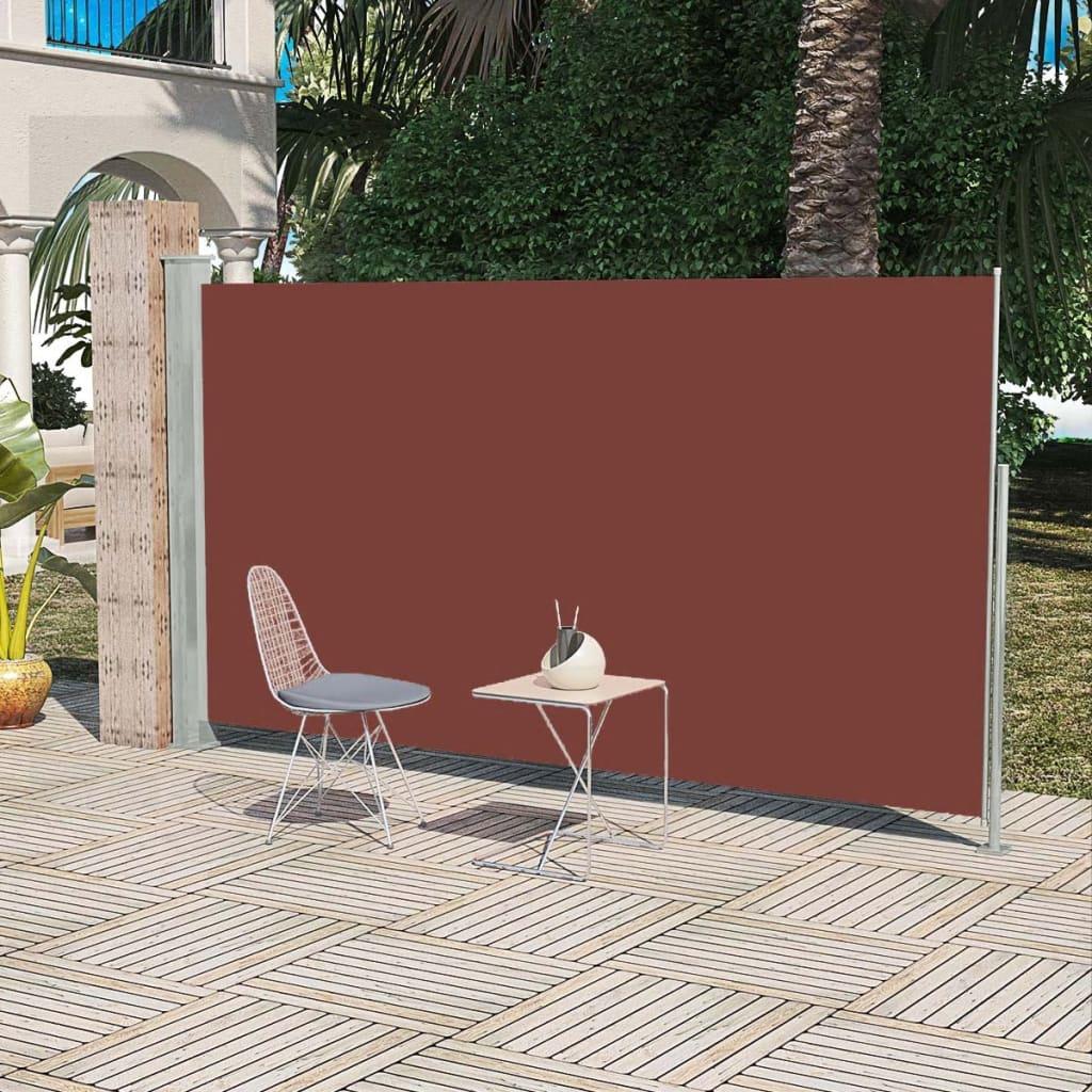 vidaXL Σκίαστρο Πλαϊνό Συρόμενο Βεράντας Καφέ 160 x 300 εκ.