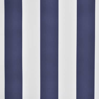 vidaXL Retractable Awning 350 cm Manually-operated Blue/White[5/9]