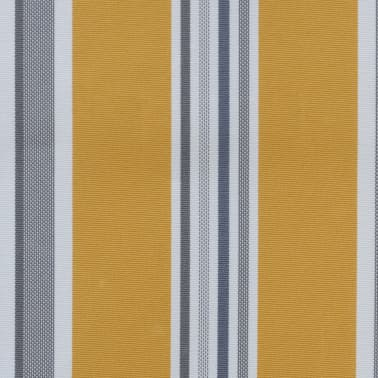 vidaXL Retractable Awning 200 cm Manually-operated Yellow/Blue[5/9]