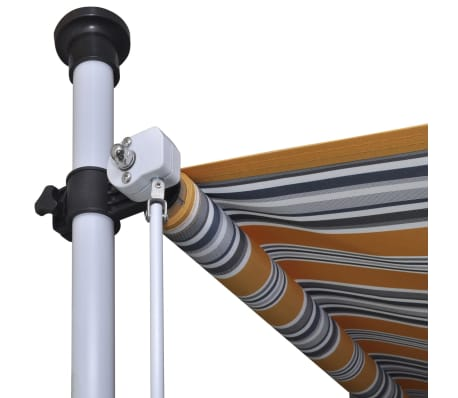 vidaXL Retractable Awning 250 cm Manually-operated Yellow/Blue[7/9]