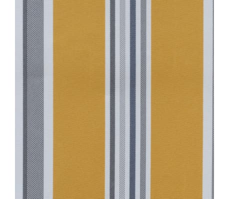 vidaXL Retractable Awning 400 cm Manually-operated Yellow/Blue[5/9]