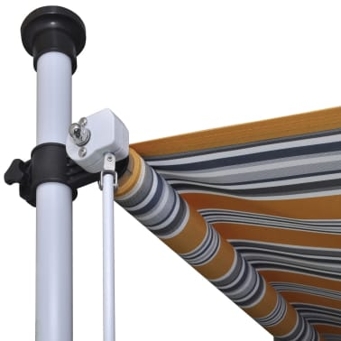 vidaXL Retractable Awning 400 cm Manually-operated Yellow/Blue[7/9]
