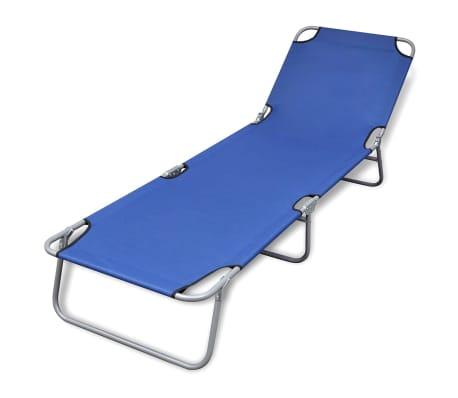 Blue Black Red Green Folding Sun Lounge Bed Reclining Beach Chair Fabric Outdoor Ebay