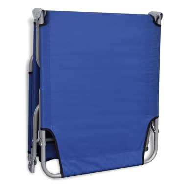 vidaXL Folding Sun Lounger Powder-coated Steel Blue[5/6]