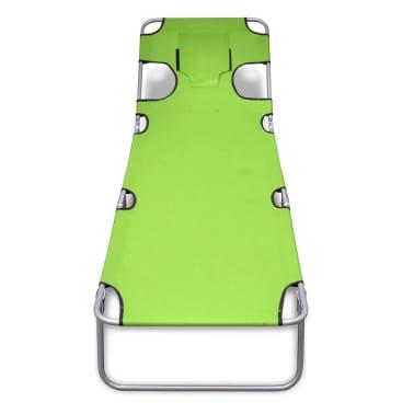 acheter vidaxl chaise longue avec coussin de t te dossier r glable vert pomme pas cher. Black Bedroom Furniture Sets. Home Design Ideas