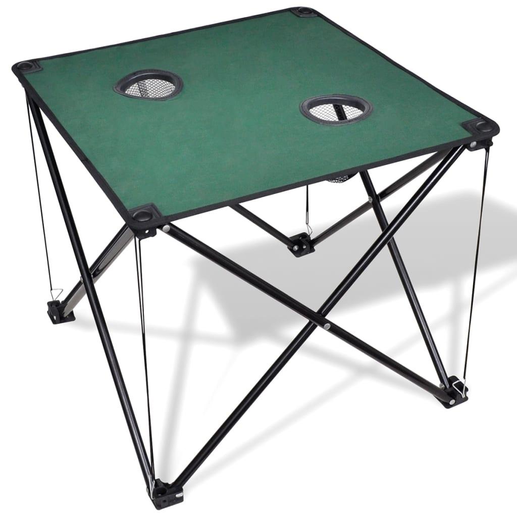 Skládací kempingový stůl tmavě zelený