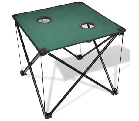 Table De Camping Pliante Vert Fonce Vidaxl Fr