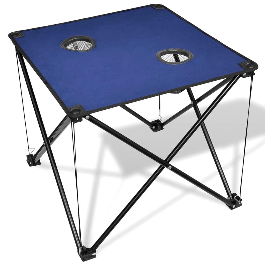 Skládací kempingový stůl modrý