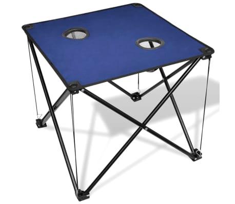 Összecsukható Kemping asztal kék[1/5]