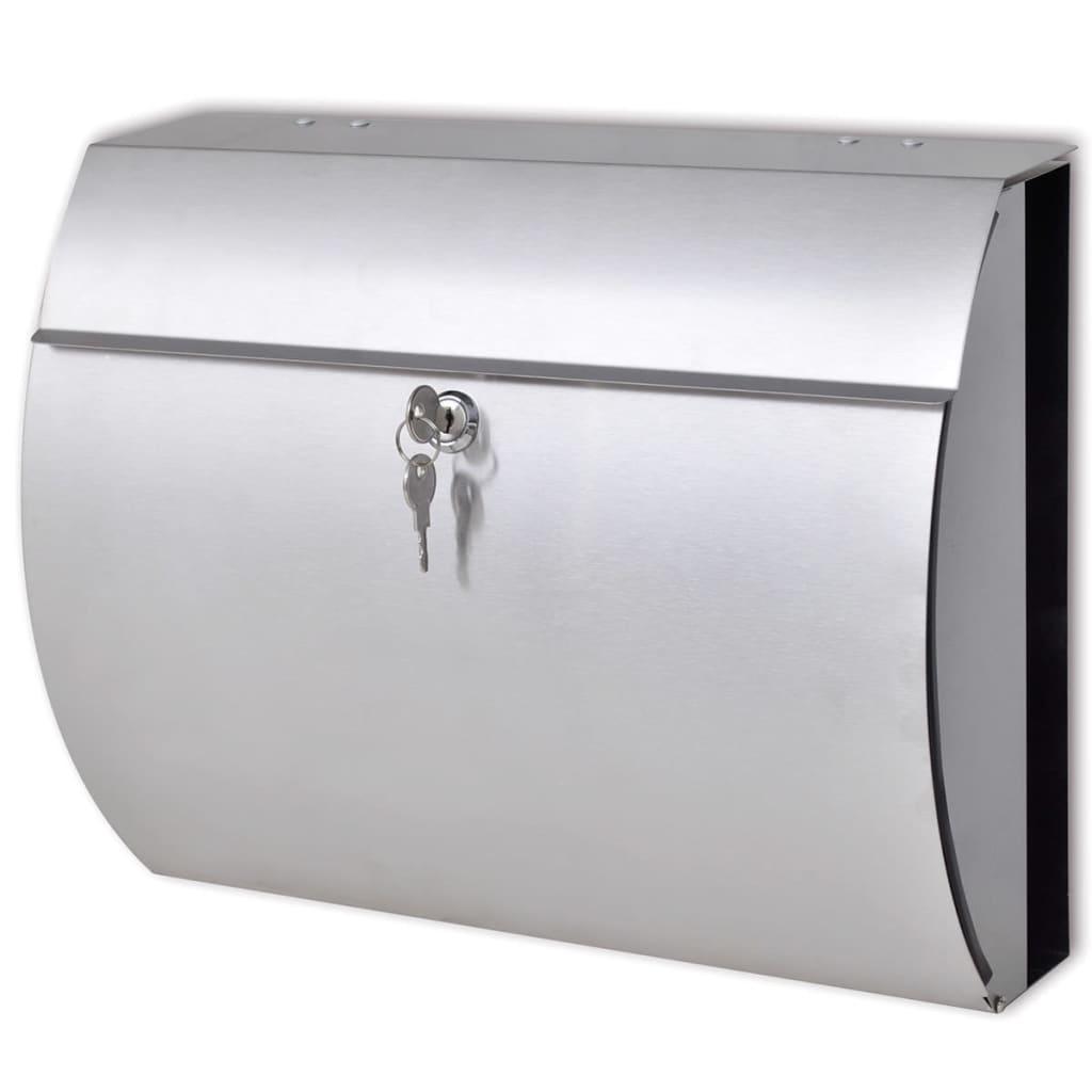 vidaXL Briefkasten aus Edelstahl