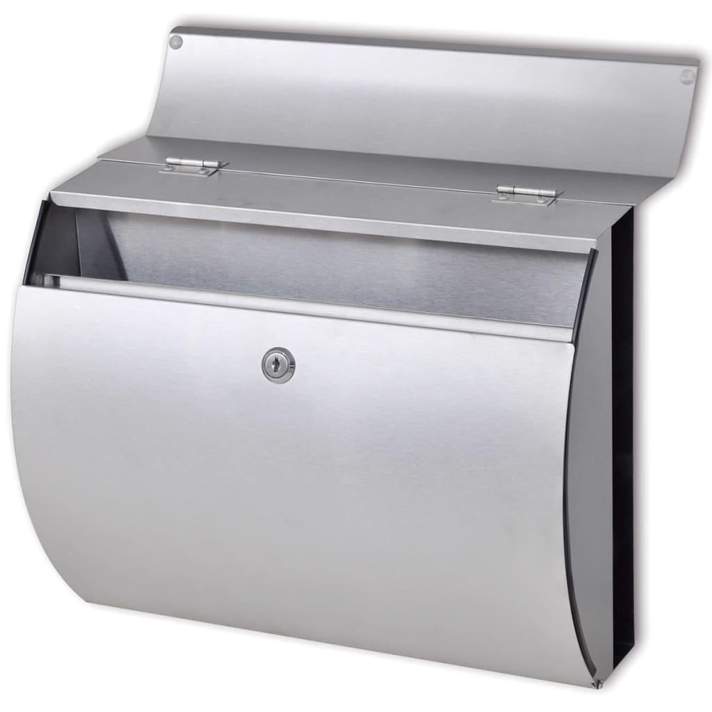 Cassetta-della-posta-in-acciaio-inossidabile-37-5-x-13-x-31-cm-Arredo miniatura 3