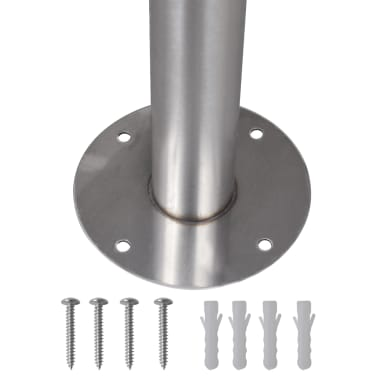 vidaXL Stainless Steel Stand for Double Mailbox[4/5]