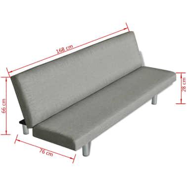 Sof cama color gris oscuro for Sofa cama color gris