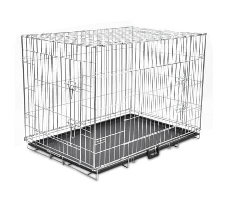 Foldable Metal Dog Bench XL