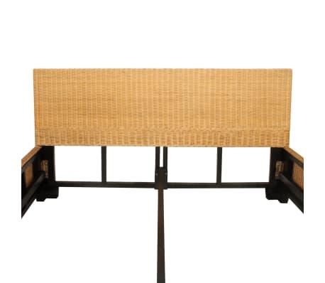 vidaxl doppelbett rattan 140x200cm ehebett geflecht. Black Bedroom Furniture Sets. Home Design Ideas