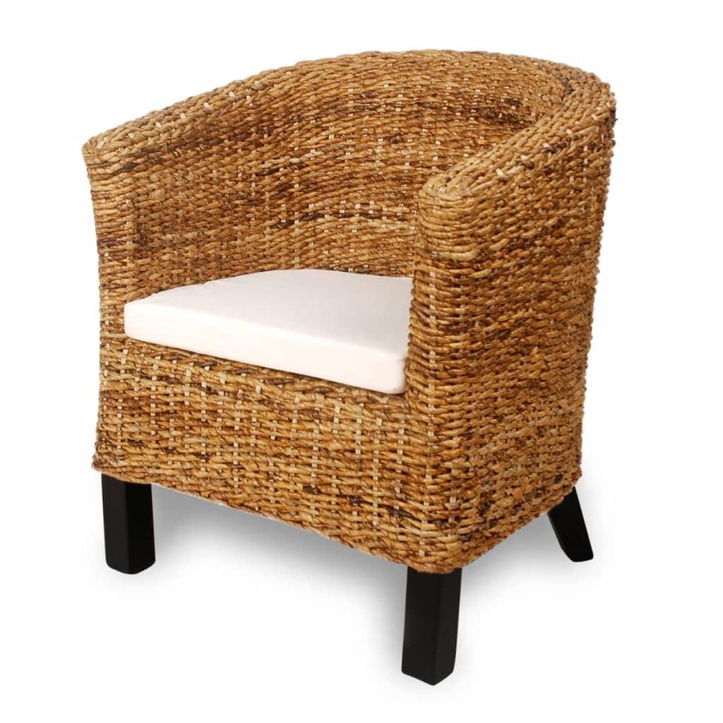 Afbeelding van vidaXL Abaca stoel met armleuning (neutrale kleur)