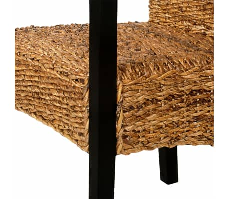 vidaXL Dining Chairs 2 pcs Abaca and Solid Mango Wood[6/7]