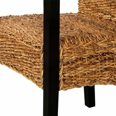 Handwoven Abaca Dining Chairs with Armrests 2 pcs[6/7]