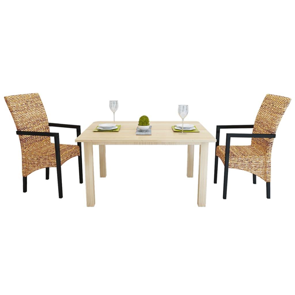 2 ks Ručně vyplétané abakové židle s područkami