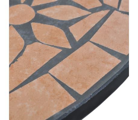 vidaXL Bistro Table Terracotta 60 cm Mosaic[4/5]
