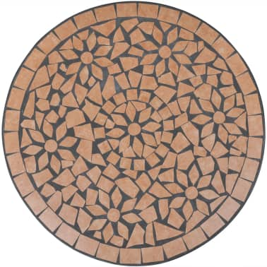 vidaXL Bistro Table Terracotta 60 cm Mosaic[3/5]