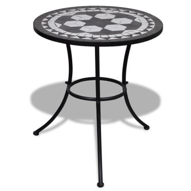 Mosaic Table 60 cm Black / White[1/5]