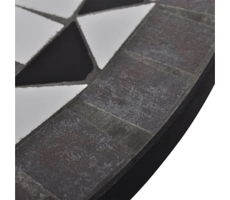vidaXL Mosaikbord 60 cm svart/vit[4/5]