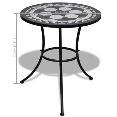 Mosaic Table 60 cm Black / White[5/5]