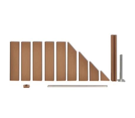 "vidaXL WPC Fence Panel 41.3""x(41.3""-72.8"") Slanted Brown[2/8]"