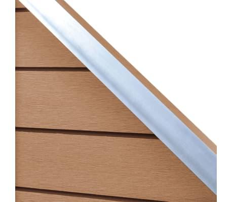 "vidaXL WPC Fence Panel 41.3""x(41.3""-72.8"") Slanted Brown[5/8]"