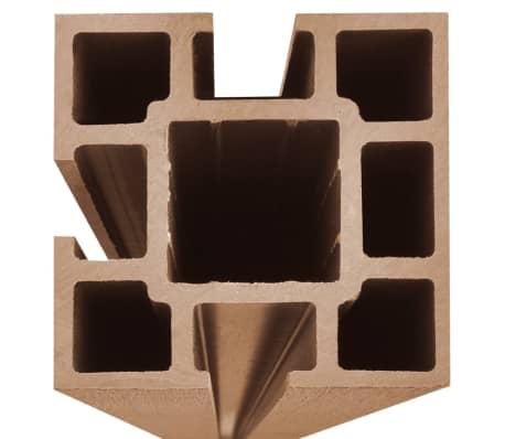 "vidaXL WPC Fence Panel 41.3""x(41.3""-72.8"") Slanted Brown[6/8]"