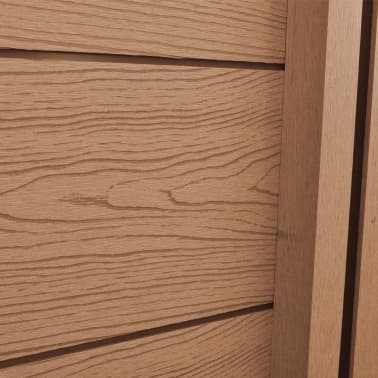 "vidaXL WPC Fence Panel 41.3""x(41.3""-72.8"") Slanted Brown[4/8]"