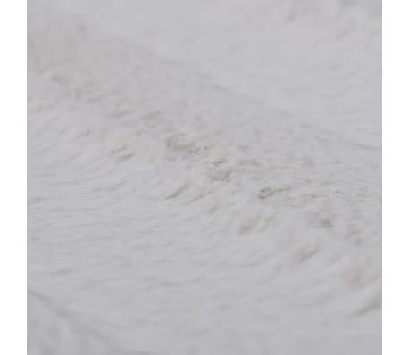 couverture fausse fourrure beige avec 2 pcs coussin. Black Bedroom Furniture Sets. Home Design Ideas