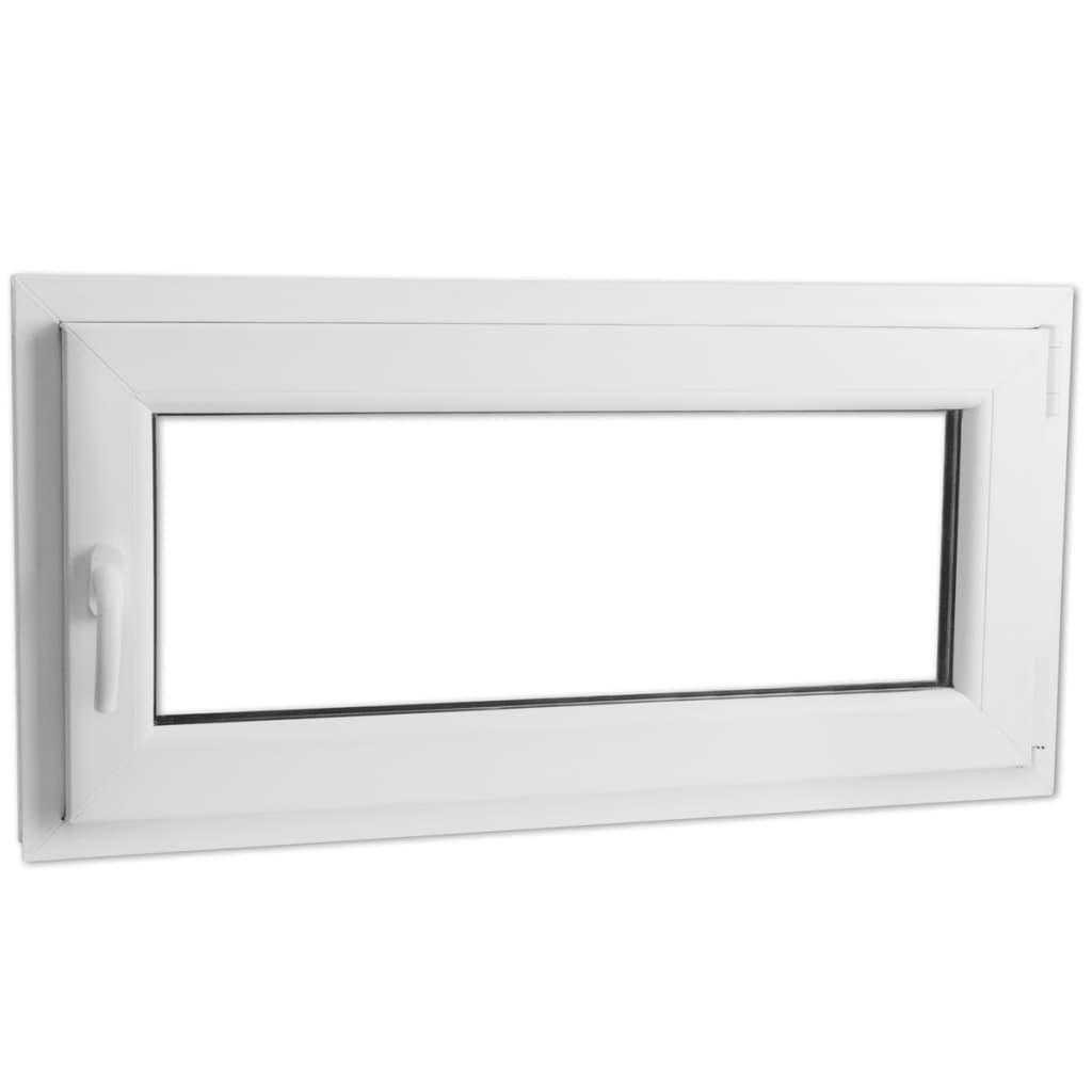 Otevíravě-sklopné okno, dvojité sklo, PVC, klika vlevo, 1200 x 600 mm