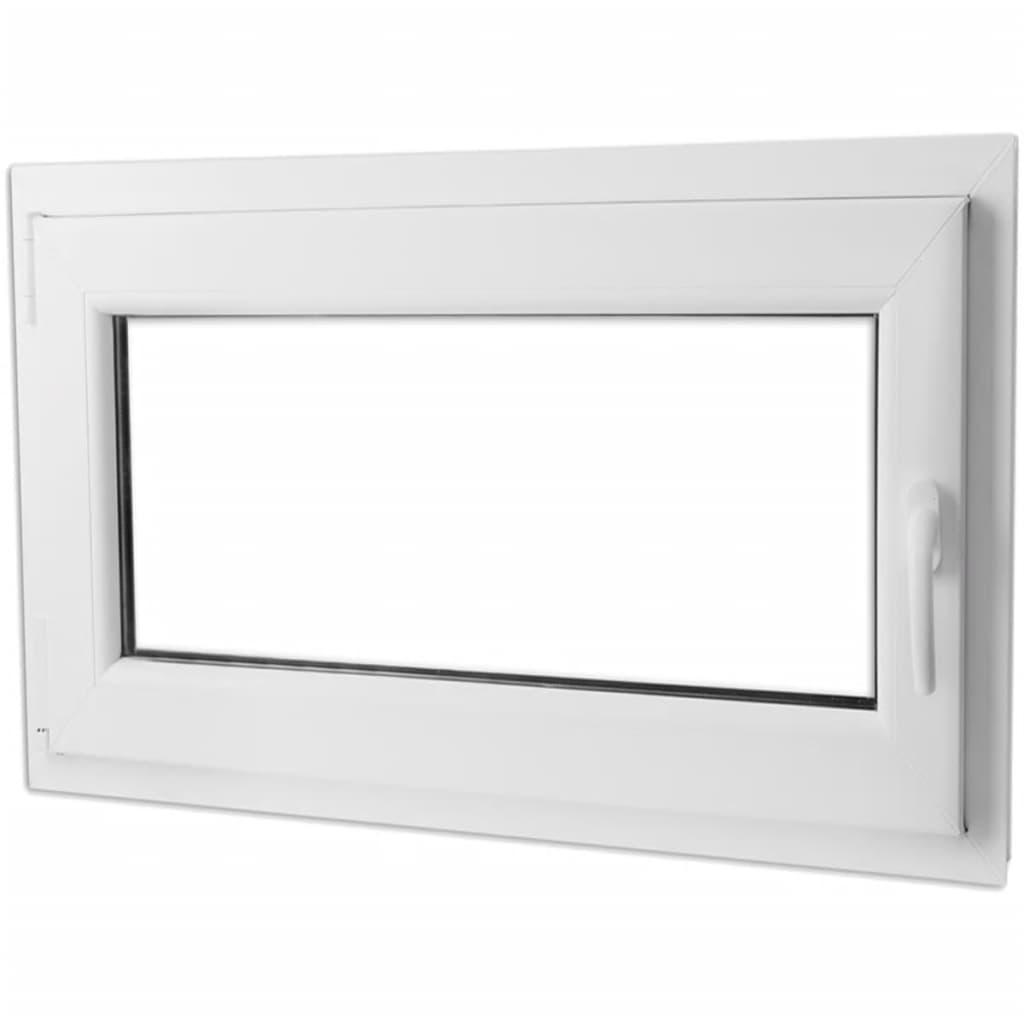 Otevíravě-sklopné okno, dvojité sklo, PVC, klika vpravo, 1100 x 700 mm