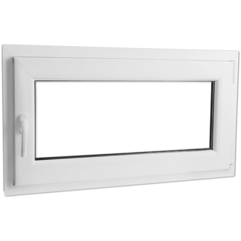 Otevíravě-sklopné okno, dvojité sklo, PVC, klika vlevo, 1100 x 600 mm