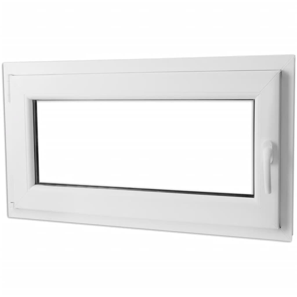 Otevíravě-sklopné okno, dvojité sklo, PVC, klika vpravo, 1100 x 600 mm