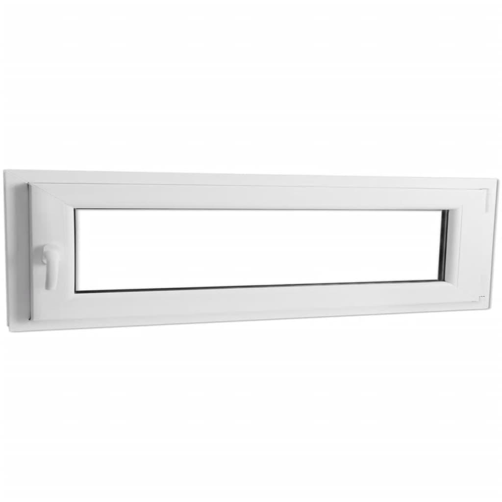 Otevíravě-sklopné okno, dvojité sklo, PVC, klika vlevo, 1100 x 400 mm