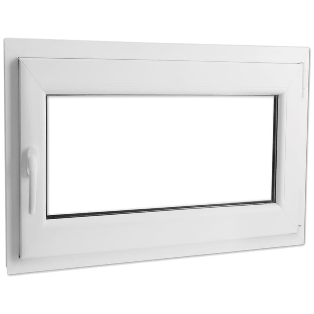 Otevíravě-sklopné okno, dvojité sklo, PVC, klika vlevo, 1000 x 700 mm