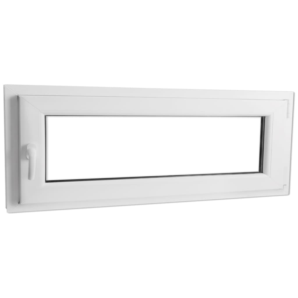 Otevíravě-sklopné okno, dvojité sklo, PVC, klika vlevo, 1000 x 400 mm