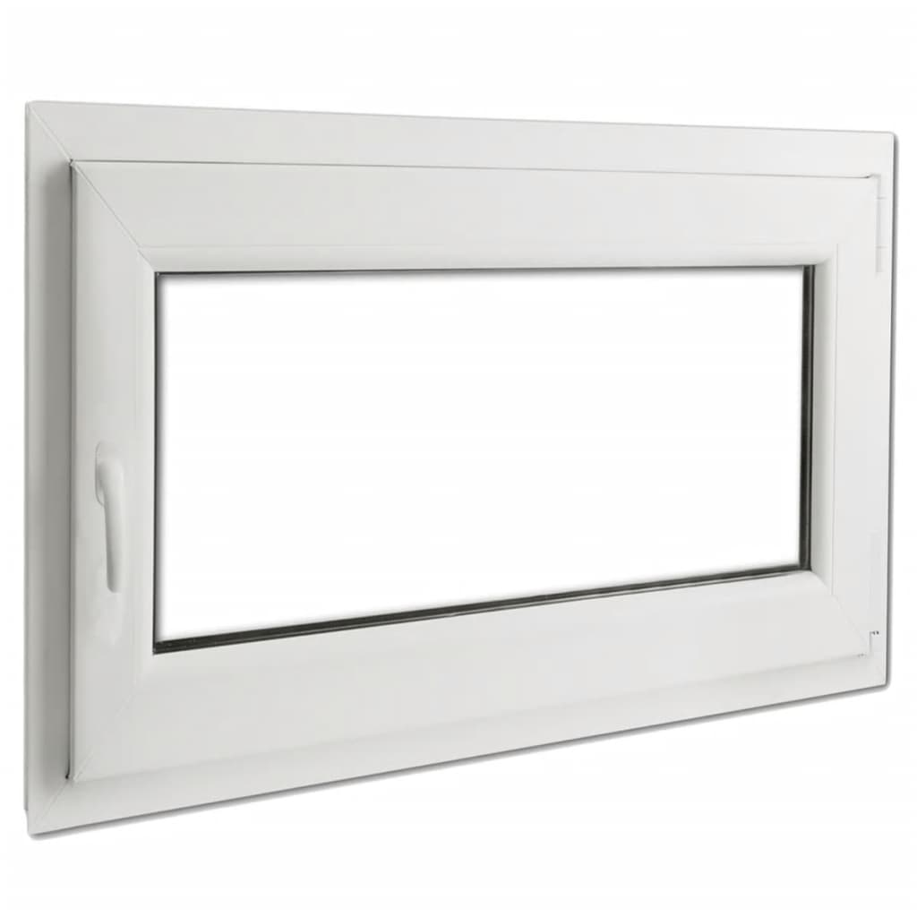 Fereastră batantă PVC, mâner pe stânga și vitraj dublu, 900 x 700 mm vidaxl.ro