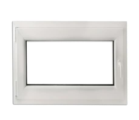 Finestra anta ribalta pvc manico a destra con doppi vetri 900 x 700 mm - Finestra anta ribalta ...