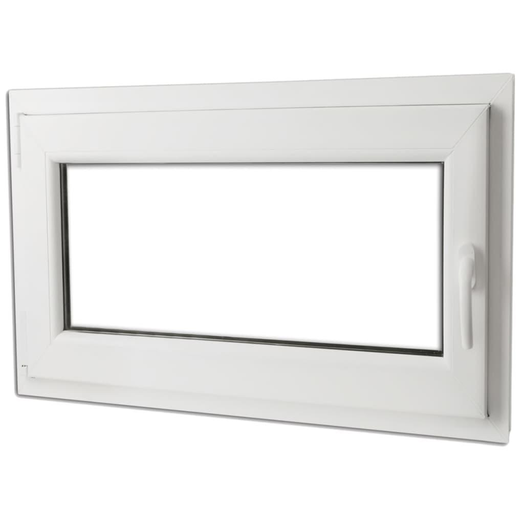 Otevíravě-sklopné okno, dvojité sklo, PVC, klika vpravo, 900 x 600 mm