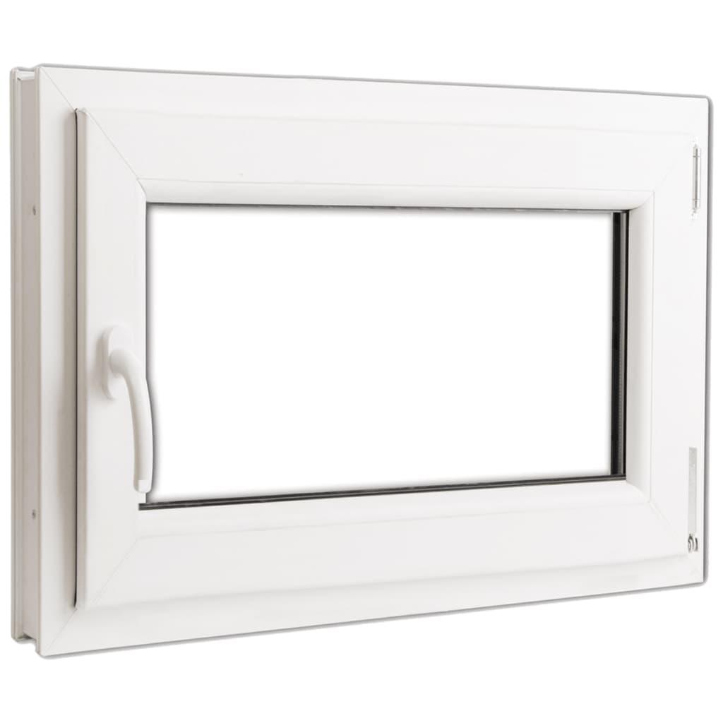 Fereastră oscilobatantă PVC 2 foi sticlă mâner stânga 800 x 600 mm vidaxl.ro