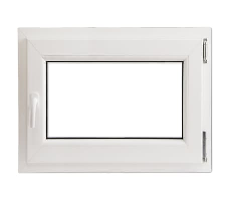 Finestra anta ribalta pvc manico a sinistra con doppi - Finestre doppi vetri prezzi ...